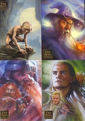 2006 LOTR Lord of the Rings Masterpieces 1 COMPLETE 90-CARD BASE SET Topps