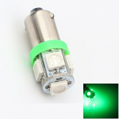 2x Ampoule BA9S / T4W / T2.3W 5 LED SMD Vert Green veilleuse lampe light 12V
