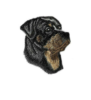 Dog - Rottweiler - Rottie - Pet - Side View - Embroidered Iron On Patch