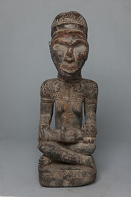 Yombe Maternity Figure, D.R. Congo, African Tribal Sculpture