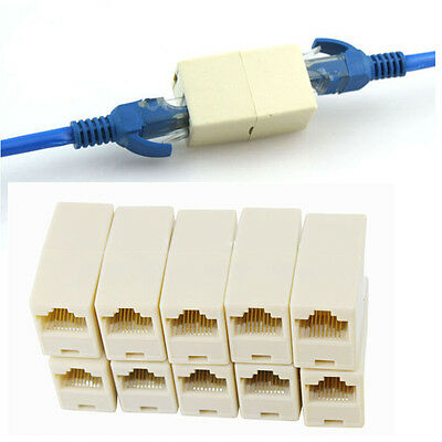rj45 cat5 cat5e cat6 network joiner plug coupler ethernet in us 10pcs rj45 cat5 coupler plug network lan cable extender connector adapter