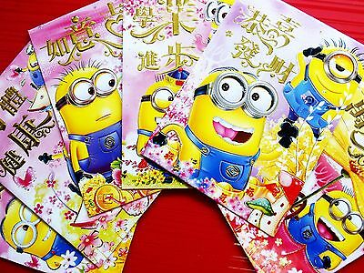 36X Despicable Me Minions Chinese New Year Ang Pow Money Envelope Red Packet D-2