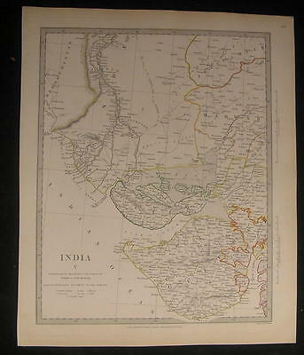 Western India Gulf of Cutch Mouth Indus 1833 antique engraved hand color map