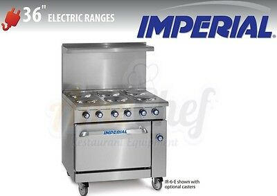 """New 36"""" Electric Commercial Range 6 Plates 1 Oven, IMPERIAL IR-6-E"""