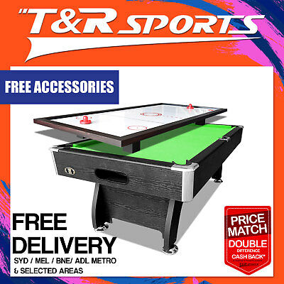 4In1 Function 8Ft Pool Table Snooker Billiards;free Ping Pong&air Hockey Top!