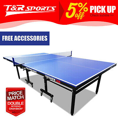 OUTDOOR PRIMO Triumph 188 Table Tennis Ping Pong Table w/ Accessories Package