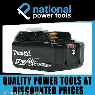 Brand New Genuine Makita Battery 18 Volt 5.0Ah Lithium Ion Bl1850B Led Indicator