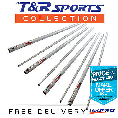 Billiard Snooker Pool Cue Stick Silver Graphite 57 Inch Centre Joint Free Post