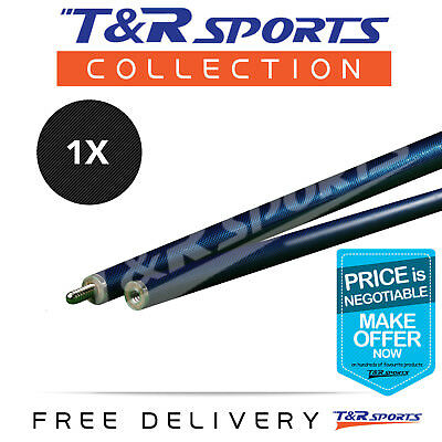 Billiard Snooker Pool Cue Stick Blue Graphite 57 Inch Centre Joint Free Delivery