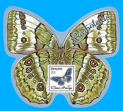 St. Thomas & Prince Stamp, 2014 INT1465S Butterfly, Insect, Bird