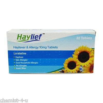 Loratadine Hayfever and Allergy Relief 10mg 30 Tablets - GSL