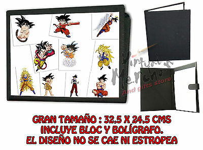 CARPETA DRAGON BALL Z GOKU FASES BOLA DRAGÓN LONETA NEGRA FOLDER bloc notas es