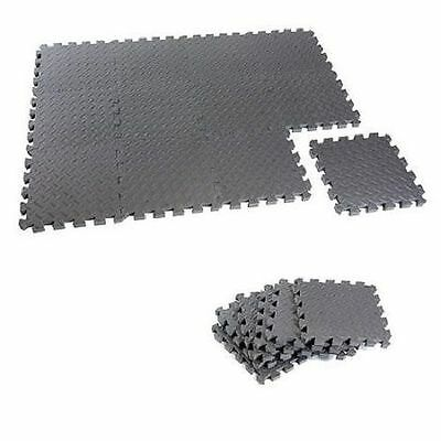 Workout Puzzle Mat 12 Piece Weight Lifting Gym Exercise Fitness Floor Equipment