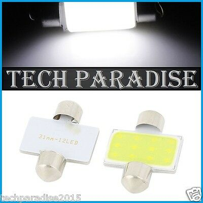 1x Ampoule Navette 31mm C3W C5W C7W C10W LED COB 12 Chips Blanc White Festoon