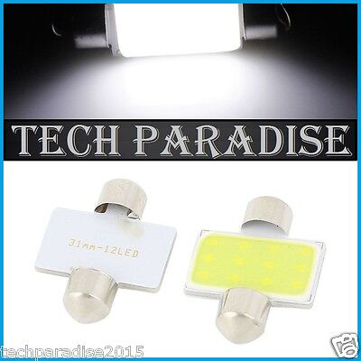 100x Ampoule Navette 31mm C3W C5W C7W C10W LED COB 12 Chips Blanc White Festoon