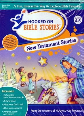 Hooked on Phonics Bible Stories NEW TESTAMENT (Audio CD,Bible Verse Flash Cards)