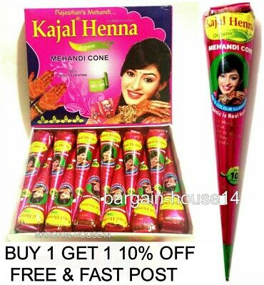 WHOLESALE PRICE INSTANT DARK RED Henna BRIDAL Mehndi Cones /Henna Book / Glitter