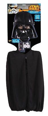 Darth Vader Accessory Kit Child Costume Mask Cape Breathing Device Halloween