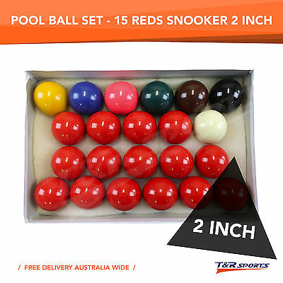 Standard 2'' Inch Billiard Snooker Ball Set 15 Reds Quality Free Delivery