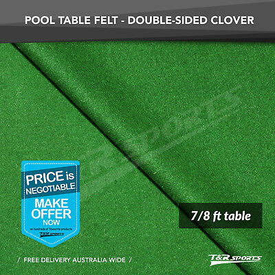 Clover Double-sided Wool Pool Snooker Table Top Cloth Felt for 7''/8''
