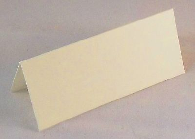 100 Wedding Table Place Name Cards , Silk Ivory / Cream