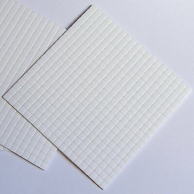 5mmx5mmx2mm Thick White Sticky Foam Pads x 400 Double/S