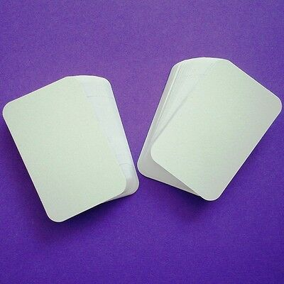100 White ROUND CORNER Blank Business Cards 250gsm, Stamp, Print