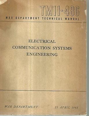 TM11-486 WWII Technical Manual Electrical Communications Systems Engineering