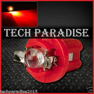 9x Ampoule B8.5D BX8.5D BAX10D ( T5 sur culot ) LED Bulb Rouge Red Neo Wedge