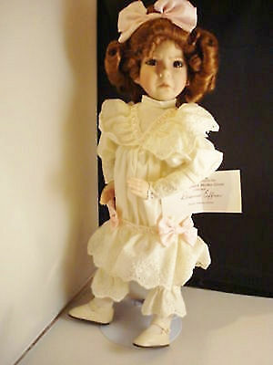 Ashton Drake Gallery Doll, Girl with a Curl,  14 inches tall
