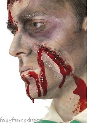 STITCHES Scar Wound Special Effect Latex Make Up Halloween Horror Fancy Dress