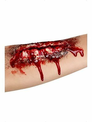 OPEN WOUND Scar Wound Special Effect Latex Make Up Halloween Horror Fancy Dress
