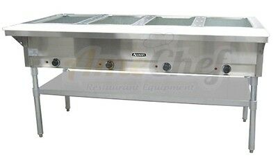 4 Bay Open Well Steam Table, Electric Stainles Steel, Adcraft ST-240/4 208/240V