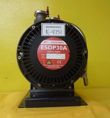 ESDP 30 Edwards ESDP 30 A Dry Scroll Pump ESDP30A Used Tested Not Working As-Is