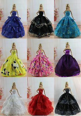 New 6 PCS Princess Dress/Wedding Clothes/Gown For 11.5in.Doll S301