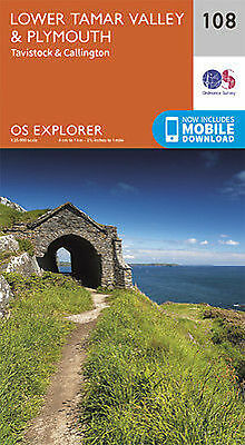 Lower Tamar Valley Plymouth 108 Explorer Map Ordnance Survey With Digital Downlo