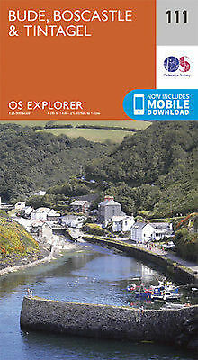 Bude, Boscastle and Tintagel 111 Explorer Map Ordnance Survey With Digital Downl