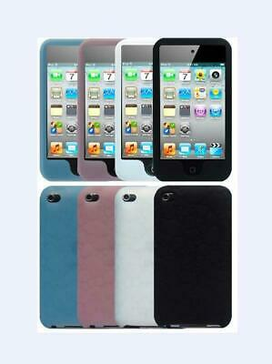 for Apple iPod Touch 4th Generation Soft Silicone Rubber Skin Cover Case