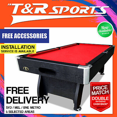 7Ft Red Modern Design Pool Table Snooker Billiard Full Accessories Pack