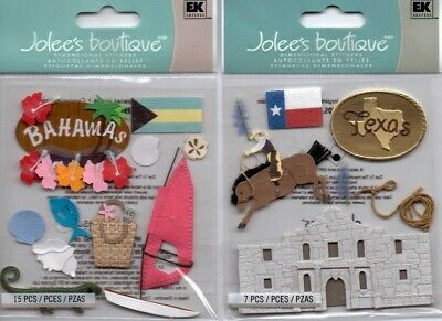 Jolee's boutique Destination themed embellishment varieties~BNIP~Very Nice!