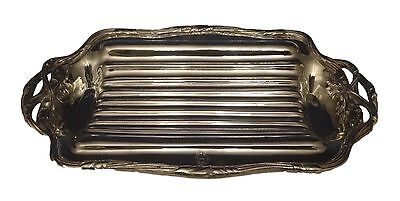 Puiforcat 950 Sterling Asparagus Serving Tray with 3-D Asparagus Handles (#0509)