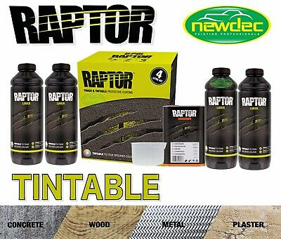 Raptor By U-Pol Upol Tintable Any Colour Bed Liner Kit 2 Pack Urethane Ute Tub