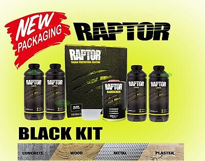 Raptor By U-Pol Upol Black Bed Liner Kit 2 Pack Urethane Coating Ute Tub Liner