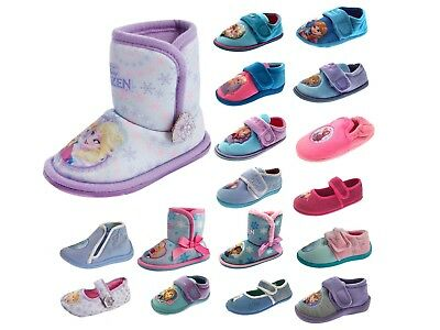 HALF PRICE SALE Girls Disney Frozen Anna Elsa Slippers Mules Character Shoes