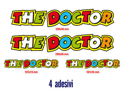 Kit 4 Adesivi Stickers The Doctor Valentino Rossi...fantastici...verniciabili!