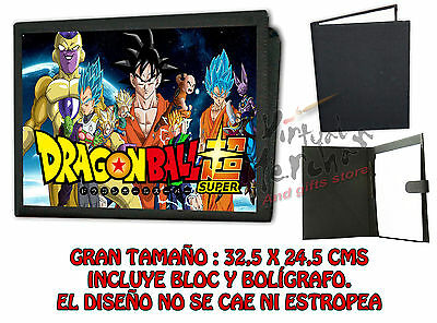 CARPETA DRAGON BALL SUPER Z GOKU LONETA NEGRA FOLDER bloc cuaderno notas es