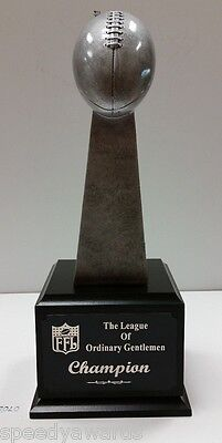 Small Lombardi Fantasy Football Perpetual Trophy 6 YEARS FREE Engraving