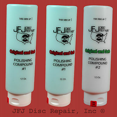 JFJ  Advanced Polish Compound Solution- Two #1 blue & One #2 white 12oz Easy Pro