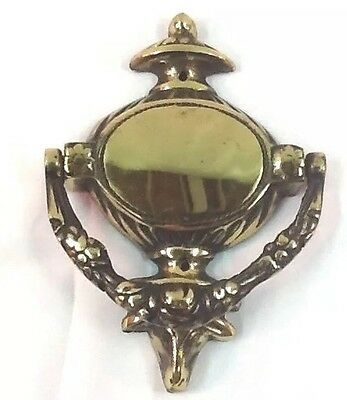 Vintage Solid Brass Cow/Bull Accent Door Knocker E5