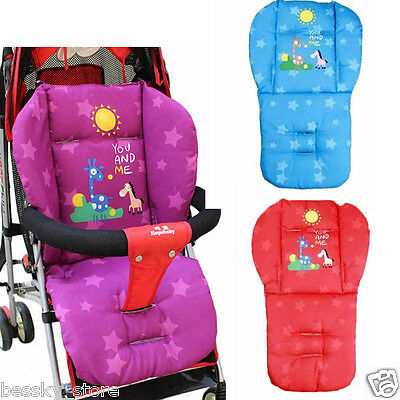 New Baby Infant Stroller Cushion Pad Giraffe Car Seat Pad Cotton Thick Mats